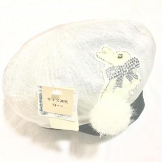 アンテプリマ(ANTEPRIMA)の新品 うさぎさん♪夏用ベレー帽♪キラキラ♪完売品(ハンチング/ベレー帽)