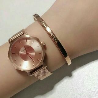 Daniel Wellington - 女性に大人気【28mm】KLASSE14 腕時計★ローズゴールド+バングル
