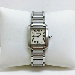 カルティエ(Cartier)のカルティエ時計 Cartier タンク フランセーズ レディース ホワイト(腕時計)