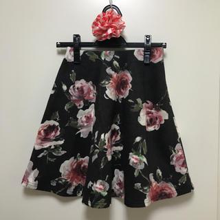 パピヨネ(PAPILLONNER)の【新品タグ付♡】花柄フレアスカート♡(ひざ丈スカート)