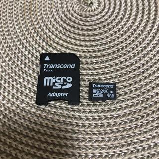 トランセンド(Transcend)のトランセンド純正 4GB microSDHCカード +変換アダプタ(PC周辺機器)