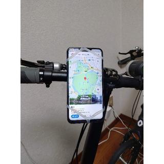 【まむし003】自転車用スマートフォンホルダー@白赤青