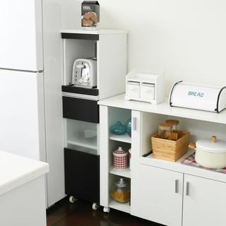 開店記念セール◆スリムキッチンラック30cm(ダークブラウン)(キッチン収納)