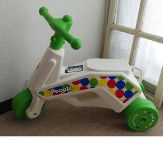 室内使用・美品です*Pepleピープル公園レーサーNeoアイボリーグリーン三輪車(三輪車)
