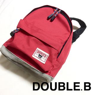 ダブルビー(DOUBLE.B)のDOUBLE.B☆リュック ベビー ミキハウス レッド 赤 カバン バッグ(リュックサック)