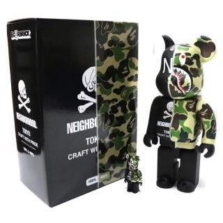 A BATHING APE - bape×NEIGHBORHOOD BE@RBRICK 100% & 400%