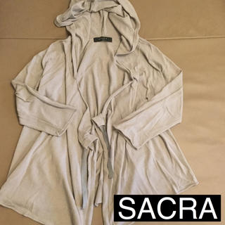 サクラ(SACRA)のSACRA / フード付きカーディガン(ニット/セーター)