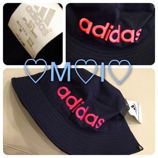 アディダス(adidas)の新品♡adidasロゴ刺繍バケットハット(ニット帽/ビーニー)