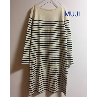 MUJI (無印良品) - ボーダーワンピース