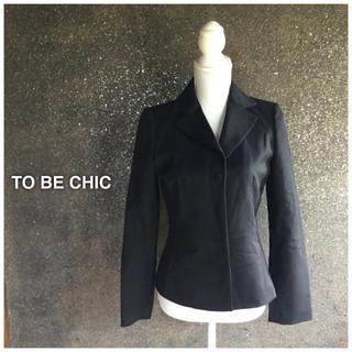 トゥービーシック(TO BE CHIC)のTO BE CHIC☆ブラックステッチジャケット サイズ40(テーラードジャケット)
