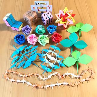 【送料無料】本格的 折り紙 アート 立体 ユニット折り紙 18個セット 知育玩具(その他)