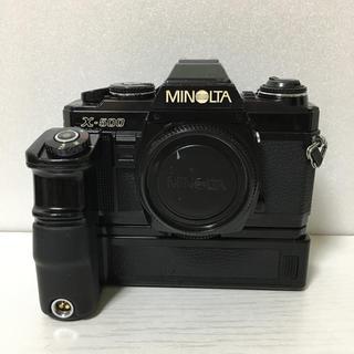 コニカミノルタ(KONICA MINOLTA)の動作良好☆ MINOLTA X-500 モータードライブ付き(フィルムカメラ)