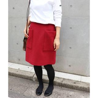 イエナ(IENA)のIENA イエナ ソフトモッサー 台形スカート 34(ひざ丈スカート)