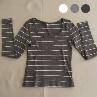スリードッツ(three dots)のスリードッツ / ボーダーシャツ(Tシャツ(長袖/七分))