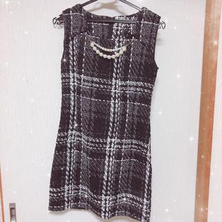 デイジーストア(dazzy store)のツイード ワンピース キャバドレス(ナイトドレス)