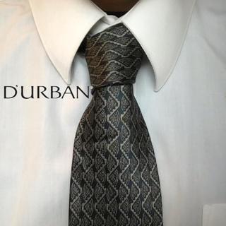 ダーバン(D'URBAN)の大人気 DURBAN ダーバン 日本製 総柄 ボルドー系 高級シルクネクタイ(ネクタイ)