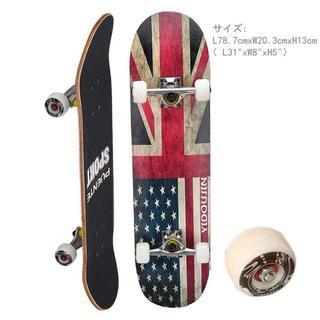 高品質カナディアンメープルデッキ☆スケートボード 31インチ(スケートボード)