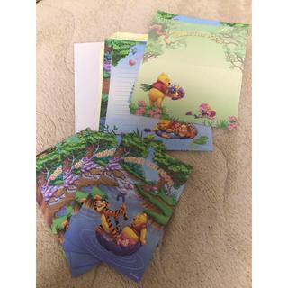 クマノプーサン(くまのプーさん)のプーさん 便箋セット、ポストカード(カード/レター/ラッピング)