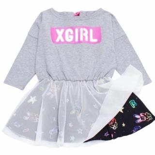 エックスガールステージス(X-girl Stages)のx-girl stages/チュール付きワンピース/エックスガールステージズ(ワンピース)