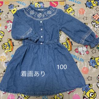 シマムラ(しまむら)のLAGKAW デニムワンピ 100(ワンピース)