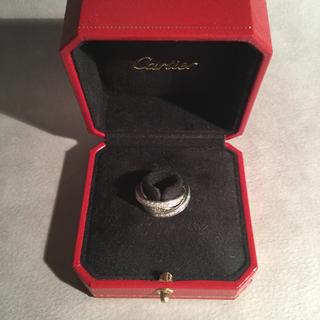 カルティエ(Cartier)のカルティエ トリニティリング フルダイヤ×WG #50(リング(指輪))