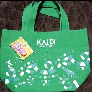 カルディ(KALDI)のカルディトートバッグ、ピグレットキーホルダー(トートバッグ)