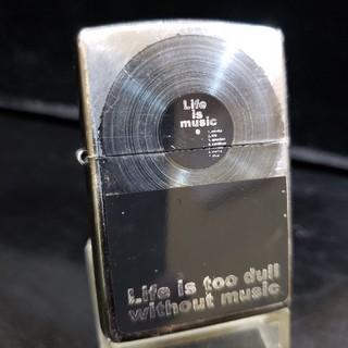 ジッポー(ZIPPO)の中古❤07J'ZIPPO♥LIFE IS MUSIC❤レコード盤♥送料無料(タバコグッズ)
