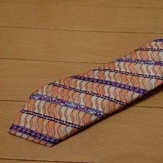 エミリオプッチ(EMILIO PUCCI)の美品エミリオプッチ正規品   オレンジ系   デザインネクタイ(ネクタイ)