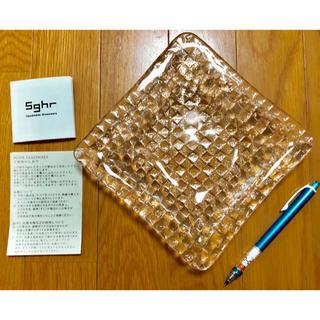 スガハラ(Sghr)の新品‼️スガハラ ハンドメイド クリアプレート(小物入れ)
