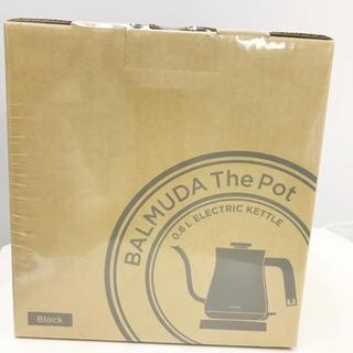 BALMUDA - 新品 バルミューダ  BALMUDA The Pot電気ケトル 0.6Lブラック