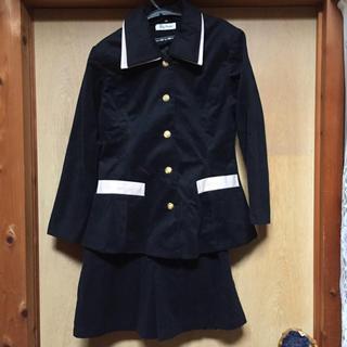 未使用、黒襟取り外しOKバブル期の流れの、キュロット スーツ(スーツ)
