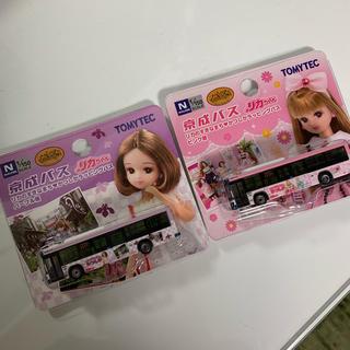 タカラトミー(Takara Tomy)の♥︎:京成バス リカちゃん かつしか ラッピングバス 2台セット売り(ぬいぐるみ/人形)