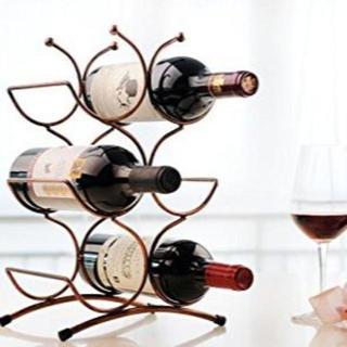 大人気☆ワインスタンド ワインボトルホルダー ワインラック6本用(キッチン収納)