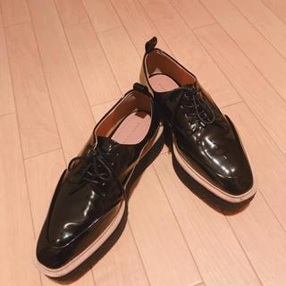 ザラ(ZARA)のZARA プラットフォームシューズ(ローファー/革靴)