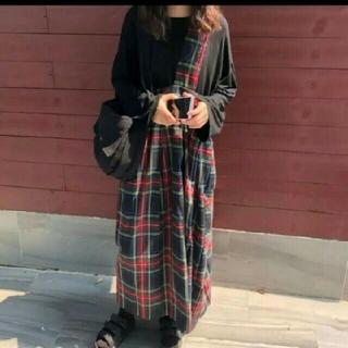 ザラ(ZARA)の~新品 チェック ワンショルダー スカート ~(ロングスカート)