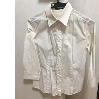 コムサイズム(COMME CA ISM)のコムサ Mサイズ Yシャツ ホワイト 7分丈(シャツ/ブラウス(長袖/七分))