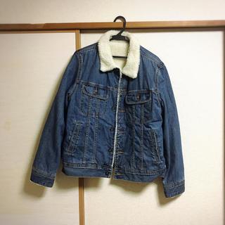 ジーユー(GU)のデニム×モコモコ ジャケット(毛皮/ファーコート)