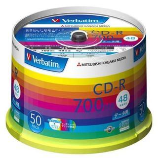 三菱ケミカルメディア Verbatim 1回記録用 CD-R SR80SP50V(DVDプレーヤー)