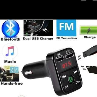 充電もできる!FMトランスミッター Bluetooth iPhone対応 新品(カーオーディオ)