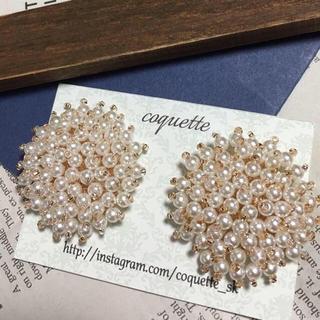 イエナ(IENA)の再販30超*no.84/coquette handmade accessory(ピアス)