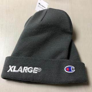 エクストララージ(XLARGE)のXLARGE & champion ニット帽 新品未使用‼️最安値‼️(ニット帽/ビーニー)