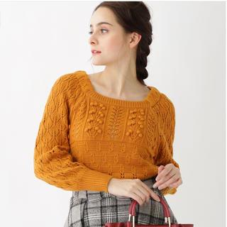 クチュールブローチ(Couture Brooch)のクチュールブローチ かぎ針ニット M 美品 ダークオレンジ 今季(ニット/セーター)