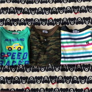 ダブルビー(DOUBLE.B)のミキハウス ダブルB 長袖Tシャツ 110 3枚セット(Tシャツ/カットソー)
