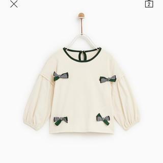 ザラキッズ(ZARA KIDS)のリボンTシャツ(Tシャツ/カットソー)