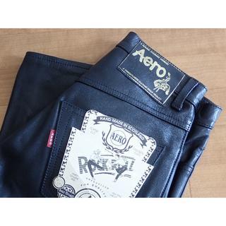 バンソン(VANSON)のAero Leather エアロレザー ステアハイド(牛革) レザーパンツ、新品(デニム/ジーンズ)
