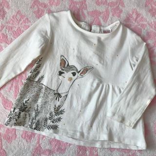 ザラキッズ(ZARA KIDS)のzara baby♡ 可愛い バンビ柄 薄手 長袖 トップス ロンT 80cm(Tシャツ)