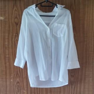 ディーエイチシー(DHC)の☆DHC*コットンガーゼ ライトシャツ/白/9号(シャツ/ブラウス(長袖/七分))