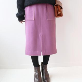 イエナ(IENA)の【美品】イエナ  モッサタイトミモレスカート  サイズ40(ひざ丈スカート)