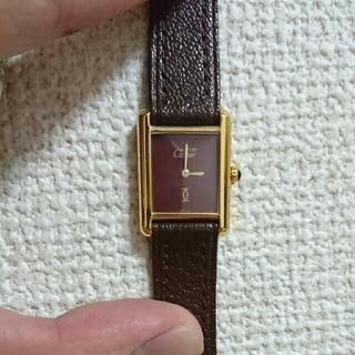 カルティエ(Cartier)のCartier マストタンク ボルドー(腕時計)