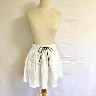 ナイスクラップ(NICE CLAUP)の編み上げフレアスカート(ひざ丈スカート)